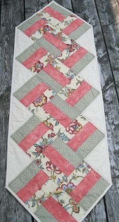Items similar to Quilted Spring Table Runner on Etsy The particular blanket – this carries Patchwork Table Runner, Table Runner And Placemats, Table Runner Pattern, Quilted Table Runners, Quilting Projects, Sewing Projects, Quilted Table Toppers, Quilt Making, Quilt Blocks
