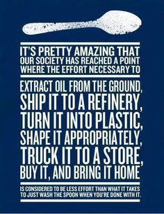 Something to think about... #reduce #reuse #recycle #plastic