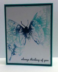 Stampin Up Swallowtail watercolor card