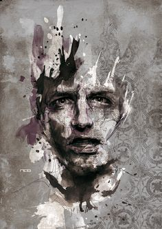 Les illustrations de Florian Nicolle ! Très expressif, seul le visage est à peu près travaillé de façon précise. Les formes partants du visage sont très gestuelle et dynamique. Geste de l'artiste, traduction de la vivacité du mouvement.