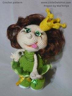 Project by Walkiriya. Doll Princess Amigurumi toy created using LittleOwlsHut crochet pattern www.ravelry.com/... #Amigurumi, #Pertseva, #LittleOwlsHut, #Princess, #Doll, #toy, #CrochetPattern
