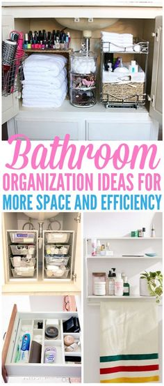 25 Ultimate Bathroom Organization Ideas To Try There are so many ways to organize your bathroom but not all of them work. Here are the ultimate 25 bathroom organization ideas that'll actually save you Small Bathroom Organization, Bathroom Hacks, Home Office Organization, Diy Bathroom Decor, Budget Bathroom, Organizing Your Home, Bathroom Storage, Organizing Ideas, Bathroom Ideas
