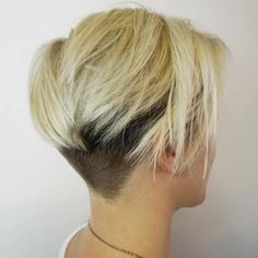 Short Blonde Bob With Nape And Side Undercut