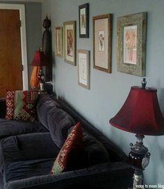 Bohemian Home Interior: Velvet sitting Room
