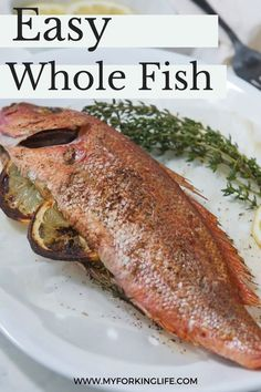 Whole fish doesn't need to be a complicated dish reserved for only special occasions! This recipe makes it easy to cook up a whole fish stuffed with lemon in the air fryer! Easy Fish Recipes, Quick Recipes, Easy Meals, Instant Pot Pressure Cooker, Pressure Cooker Recipes, Whole Red Snapper Recipes, Air Fryer Fish, Air Fryer Recipes, Stuffed Peppers