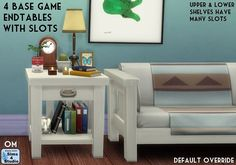 [KS-Sims]reblog - sssvitlans: 4 Base Game End Tables with Slots by...