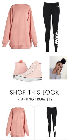 """Untitled #16"" by nimomohamud101 ❤ liked on Polyvore featuring Acne Studios, NIKE and Converse"