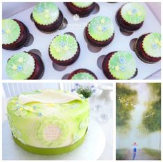 Book-Inspired Cake & Cupcakes
