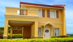 Camella Series: Carmela House Carmela has a floor area of 65 sqm. and a minimum lot area of 99 sqm. One of the houses from Camella Series that comes. Exterior Paint Colors, Affordable Housing, Model Homes, House Design, Mansions, House Styles, Modern, Home Decor, Jun