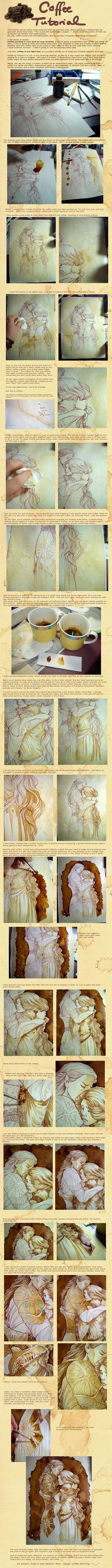 Painting with Coffee by Gold-Seven resource tool how to tutorial instructions | Create your own roleplaying game material w/ RPG Bard: www.rpgbard.com | Writing inspiration for Dungeons and Dragons DND D&D Pathfinder PFRPG Warhammer 40k Star Wars Shadowrun Call of Cthulhu Lord of the Rings LoTR + d20 fantasy science fiction scifi horror design | Not Trusty Sword art: click artwork for source