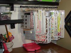 Inexpensive Hanging Sticker and Embellishment Storage.