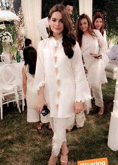 White love Pakistani Fashion Casual, Pakistani Dresses Casual, Pakistani Wedding Outfits, Pakistani Dress Design, Indian Dresses, Indian Outfits, Indian Fashion, Stylish Dresses, Women's Fashion Dresses
