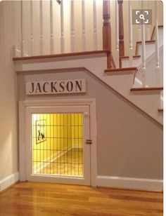 Wonderful use of under the stairs dog kennel                                                                                                                                                                                 More