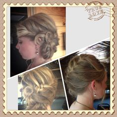 Wedding hair! Bridesmaid Hairstyles, Wedding Hairstyles, Fall Wedding, Dream Wedding, Wedding Styles, Wedding Ideas, Beach Hair, Cut And Color, My Hair