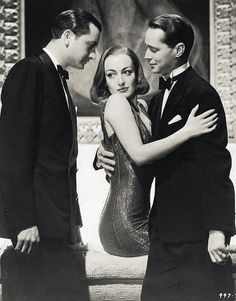 Robert Young, Joan Crawford, & Franchot Tone from The Bride Wore Red (1937)