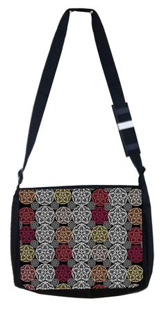 Floral hot pink, yellow and orange Origami Rosie Parker Inc. TM Medium Sized Laptop Messenger Bag 11.75' x 15.5' ** See this great product. (This is an Amazon Affiliate link and I receive a commission for the sales)