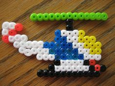 Perler Bead Helicopter by Kid's Birthday Parties, via Flickr