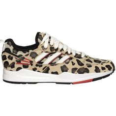 ADIDAS ORIGINALS BLUE Tech Super Leo Printed Leather Sneakers by None, via Polyvore