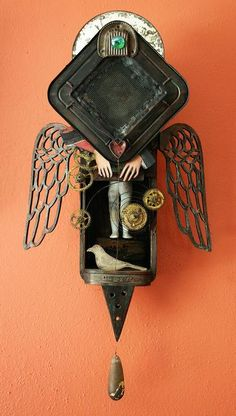 Bugaboo. Mixed media assemblage by Anastasia Osolin