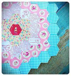 pretty hexie block by lovely little handmades