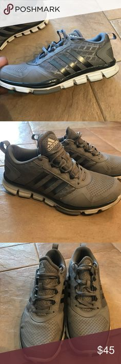 the latest 76cd2 5175a Unisex Grey and Silver Adidas running shoes Unisex shoe. Barely worn. Goes  with everything