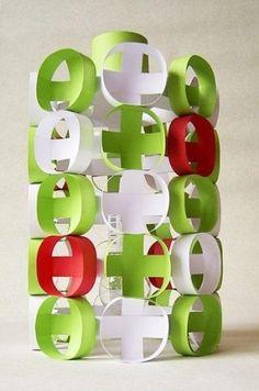 """Papierlampe """"Milano"""" Retro-Style"""