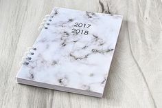 Planner 2017 2018 Marble planner notebook Journal diary 2017