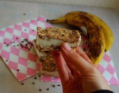Healthy suikervrije banaan ijssandwich