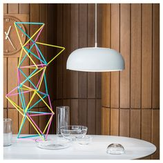 IKEA UK: Cleverly designed to spread light, without an uncomfortable glare. A mesh either side of the NYMÅNE . Led Ceiling Lights, Room Lights, Ceiling Lamp, Ikea Ceiling Light, Lustre Ikea, Luminaire Ikea, Pendant Lamp, Pendant Lighting, Round Pendant