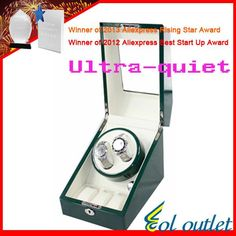 Superior Quality Ultra-quiet Motor Watch Winder for Automatic Mechanical Watch Capacity for 2 Watches With 3 Grid Storage