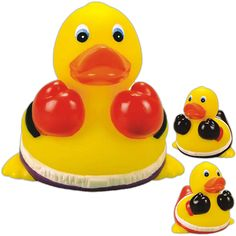 Rubber boxer duck. Duck has boxing shorts and gloves. Great for the boxer lover…