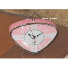 retro triangle pink alarm clock