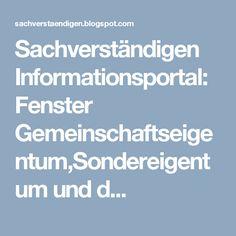 Sachverständigen Informationsportal: Fenster Gemeinschaftseigentum,Sondereigentum und d...