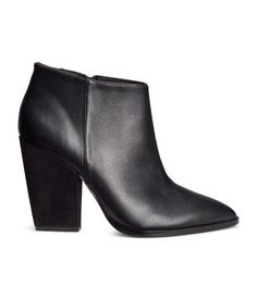 pointed toe black ankle boots