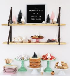 This could be fun~ a variety of desserts and a letterboard. Or you could do it with pies! Or DONUTS
