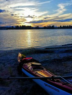Canoes & Kayaks | On the beach at sunset