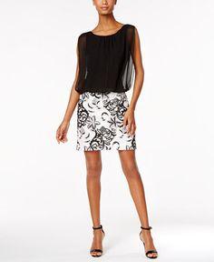 Calvin Klein Embroidered Blouson Dress