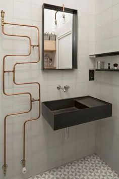vintage copper towel rail kupferrohr in 2018 pinterest badezimmer kupfer und heizk rper. Black Bedroom Furniture Sets. Home Design Ideas