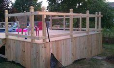 New ABG pool llate last summer now deck build pics