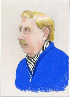 man with black stripes scarf
