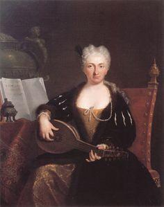 Примадонна Фаустина Бордони (1687-1781), в замужестве Хассе.  Для сравнения - ее портрет в более почтенном возрасте. Автор - Бартоломео Наццари.