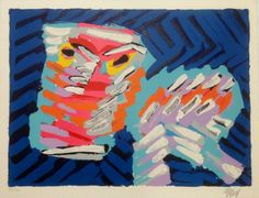 Currently at the Catawiki auctions: Karel Appel - 'Cruel Cat' - signed silk screen print - ed. 160 approx. 1978