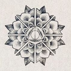 Deathly Hallows Mandala Tattoo Design