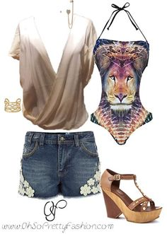 perfect beach chic look!  Top available on www.ohsoprettyfashion.com