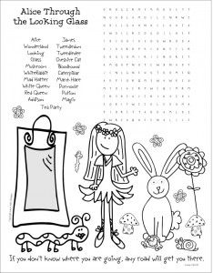 Alice Looking Glass Word Search