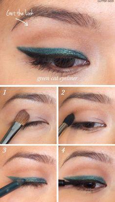 16 Useful Cat Eye Makeup Tutorials - Pretty Designs