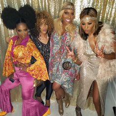 Jada Pinkett Smith, Issa Rae, Tina Lawson and More Celebs Out and About Kenya Moore. Sheree Whitfield, Nene Leakes, and Cynthia Bailey - Celebrity Photos of The Week: July July 22 Disco Fashion, 70s Fashion, Party Fashion, Hippie Fashion, Fashion Menswear, Disco Birthday Party, Disco Party, Disco Theme Parties, 80s Party