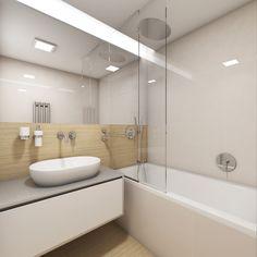 Moderní koupelna SILK - Pohled od dveří koupelny