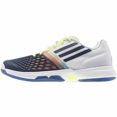 Climacool adizero Tempaia 3 Schuh, Night Blue / Night Blue/Glow Orange. Damn these look nice but I just recently bought Asics Gel Solution Speed Clay Shoes. #tennis #shoes #adidas #clay