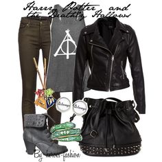 """Harry Potter and the Deathly Hallows"" by heroes-fashion on Polyvore"